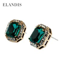 Wholesale create new style Europe and the United States Gemstone stud earrings deserve to act the role of women