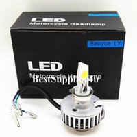 Wholesale Promotion W Motorcycle LED Headlight H4 Hi Lo bulb sides degree lighting All in one driver