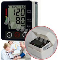 Wholesale 4 Wrist Full Auto Digital Sphygmomanometer blood pressure monitor health care pulse oximeter heart beat meter blood pressure meter