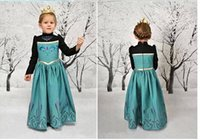 Cheap new 2014 frozen dress kids elsa costume christmas costumes for baby girls fantasia frozen clothes dress up elsa and anna Free Shipping