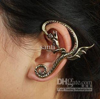 Wholesale Dragon Wrap Ear Cuff Earring Ancient Silver Europe punk retro fashion DJ earrings abnormity
