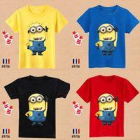 2015 Cheap fumetto di estate magliette del anime figura Cattivissimo Me minions vestiti abbigliamento per bambini minion costume per bambini T- shirts MYF231