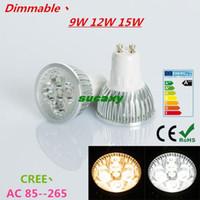 Wholesale 1pcs Super Bright W W W GU10 LED Bulbs Light V V Dimmable Led Spotlights Warm Natural Cool White GU LED downlight