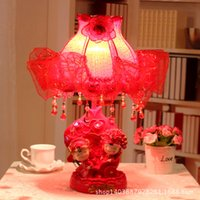 Wholesale Happiness set sail red lamp creative wedding marriage room decorated marriage bedside lamp led decorative festive supplies