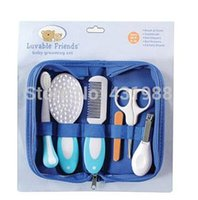 baby comb and brush set - 6pcs Baby Grooming Care Manicure Set Toothbrush Hair Brush Comb Nail File Boards Nail Scissors And Nail Clipper A5
