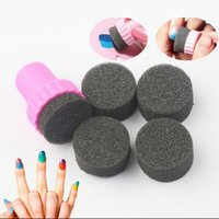 Wholesale New Nail Stamping Stamper with Sponge for Gradient Color Nail Art Decoration Pro Nail Styling Manicure Tools Set