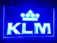 airlines sign - b KLM Royal Dutch Airlines Logo LED Neon Light Sign