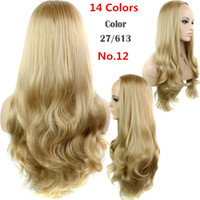 afro wigs - 30 quot g Synthetic Hair Half Wigs Wig Ombre Cheap Hair Wig Two Tone Long Curly False Hair Heat Resistant Afro