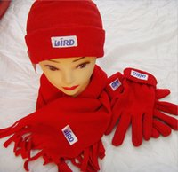 hat lady red - AAAA quality New Winter Women gloves hats red ladies set gloves scarf scarf Winter womens hats gloves scarf LJJD1521 sets
