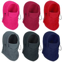 Wholesale Hot Winter Fleece Motorcycle Face Mask Hat Swat Ski Windproof Helmet Unisex Warm Outdoor Balaclava Cycling Cap YDF0216