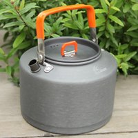 aluminum mesh filters - High Quality Outdoor Water Kettles FMC T4 L Aluminum Camping Kettles Picnic Tea Pot Kettle with Tea Filter Mesh Bag