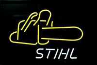 stihl chainsaw bars - NEON SIGN For BIG STIHL CHAIN SAW Chainsaw LOGO EER BAR PUB display RESTAURANT outdoor Light Signs quot