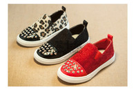 childrens shoes - Kids Casual Shoes Fashion Rivet Leopard Childrens Shoes Autumn Korean Style Child Shoes Boys Girls Children Casual Shoes C001