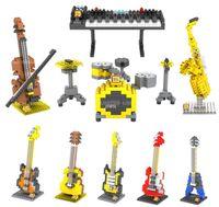 Wholesale LOZ Musical Instruments Diamond Building Blocks DIY Series Music Model Blocks Intelligence Educational Toy Gift Children