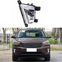 Wholesale Car Styling DRL LED Daytime Running Lights Fog Lamp Waterproof pair Accessories For Hyundai IX25 CRETA High Quality