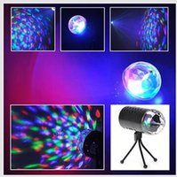 mini laser light show - EU V US V colours Mini Laser Projector w Light Full Color LED Crystal Rotating RGB Stage Light Home Party Stage Club DJ Show