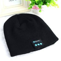 Wholesale Big Promotion Bluetooth Music Hat Soft Warm Beanie Cap with Stereo Headphone Headset Speaker Wireless Microphone L0148