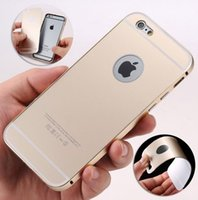 Wholesale HOT ON eBay iPhone Aluminum thin Metal Bumper Acrylic Back Cover Case Skin for Apple iPhone iPhone Plus