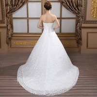 autumn season pictures - 2016 autumn winter season euramerican style strapless wedding dress with A word put small trailing neat princess dress now in Europe and t