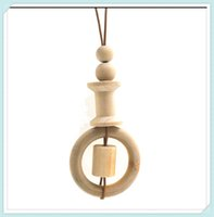 baby rattler - wood nursing necklace geometric pendant simple leather cord everyday RATTLER BABY SAFE TOY ORGANIC NATURAL NW092