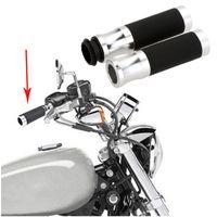 Wholesale Universal motocross Hand Grips quot Throttle CNC Aluminum Rubber Motorcycle Handlebar Sports dirt pit bike Sport Bicycle