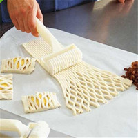 Cheap Plastic Bread Cookies Pie Cake Cutter Baking Dough Roller Kitchen Pastry Roll Modeling Craft Tool
