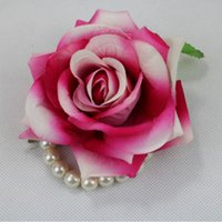 Wholesale 2016 Silk Artificial Flowers Head crimping Rose Party Decoration Home Decor for wedding Decoration DIY manual hair curling head rose