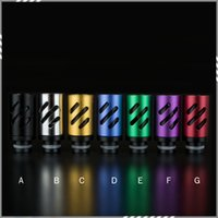 aluminum vaporizer - Newest Aluminum Air Flow Control Drip Tip Adjustable Airflow Drip Tips Mouthpiece for E Cigarettes Atomizer Vaporizer New DHL Free