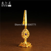 Wholesale Alloy frame Lotus lotus incense holder clip insertedincense coil sandalwood incense lying applicable