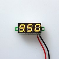 dc voltage panel meter - 5PCS New quot DC V Super Mini Digital LED Display Car Voltmeter Yellow Voltage Volt Panel Meter
