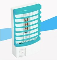 Wholesale Piece New V Socket Electric Mosquito Fly Bug Insect Trap Night Lamp Killer Zapper With LED