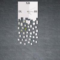 Wholesale New Fashion D DIY Clock Magic JM Z039 Mirror Like DIY Quartet Seck D Wall Clock Analog for Home Office