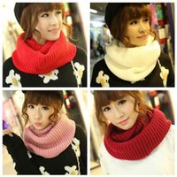 Wholesale Hot Fashion Winter Scarves Knitting Cotton Blends Collar Neck Warmer Soft Shawl Colors To Choose Woman Ring Scarf
