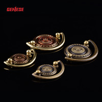 Wholesale All brass doors and drawers handle GL Cupboard Handle flower pulls Furniture Knob