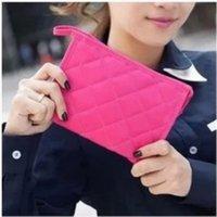 Wholesale Korea Guoling lattice makeup bag cosmetic bag bag bag travel bulk medium