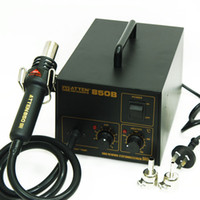 Wholesale ATTEN AT850B Advanced Hot Air Gun Solder Station Rework station W V FOR BGA SMD SOP PLCC PVC PE PP PVDF order lt no trac