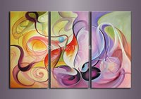 oil warmer - High Quality Modern Abstract Oil Painting Beautiful Warm Colorful Huge Piece Sets On Canvas Home Wall Art Bedroom Decor Sale