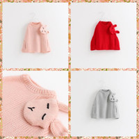 autumn cashmere poncho - New Arrival Princess Babies Girls Knitting Capes Poncho Sweaters Rabbit Patchwork Stylish Western Fashion Christmas Casual Tops Putwears