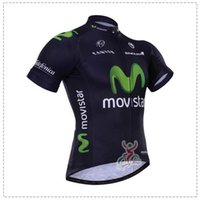 Wholesale Movistar Team Cycling Jerseys Shirt Sky Cycling Short Sleeves Jersey Bike Tops Quick Dry Breathable High Quality Bicycle Shirt