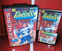 Wholesale Sega games card The Punisher with box and manual for Sega MegaDrive Video Game console system bit MD card