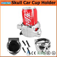 auto cup holder cooler - 2015 New Universal Car Cup Holder Cool Skull Drink Beverage Holder Clip Auto Mobile Phone Cup Lumber Outlet Holder Auto Supplies