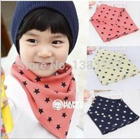 Wholesale Fashion New Baby Layer Cotton Bibs Toddler Reversible Bandit Bandana Dribble Baby Star Triangled Bibs Color