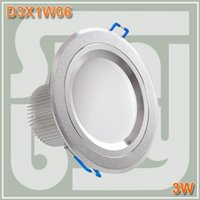 Wholesale 3W ceiling light recessed lamp downlight without flicker thick edge inch W non dimmable LED down lights