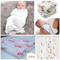 Winter baby blankets wholesale - 120x120cm Multifunctional Aden Anais Muslin Cotton Newborn Baby Bath Towel Swaddle bedding Blanket HX