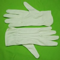 active finger - freeshiping Pure Cotton White gloves Etiquette Driver Labor Insurance Gloves pairs Comfort practical Quality Guarantee