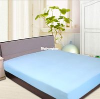 Wholesale 1509 Bamboo fiber TPU bed protection pad toppers Waterproof Mattress Protector Cover hypoallergenic mattress