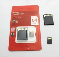 64gb sdhc memory card - 32GB GB Class Micro SD T FLASH Memory Card Micro SD SDHC Cards With Free Adapter Red Retail Package Z100J