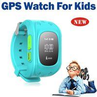Wholesale 2015 Mini GPS Tracker Watch For Kids SOS Emergency Anti Lost Smart Mobile Phone App Bracelet Wristband Two Way Communication