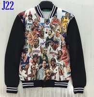 basketball jackets - New designed d jacket for men funny printed basketball stars Cardigans women Hoody jacket hoodies fashion coat spring