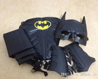 batman dark knight costumes kids - LJJD3621 sets Batman cosplay Costume Dark Knight Collector Custom Full Set New Cosplay Superman Batman Halloween costumes for kids